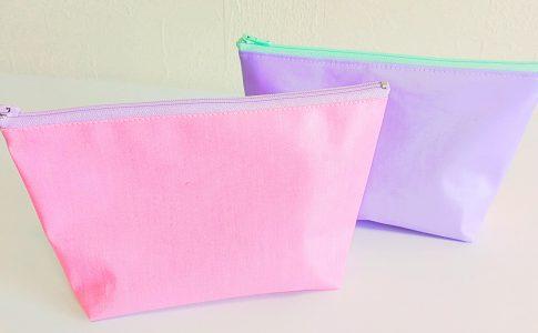 [ダイソーファスナー]ラミネート生地でお手入れ簡単なファスナーポーチの作り方|ハンドメイド 初心者のための洋裁メディア縫いナビ|丸石織物