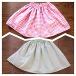 まっすぐに縫うだけ!簡単、かわいいリバーシブルスカートの作り方