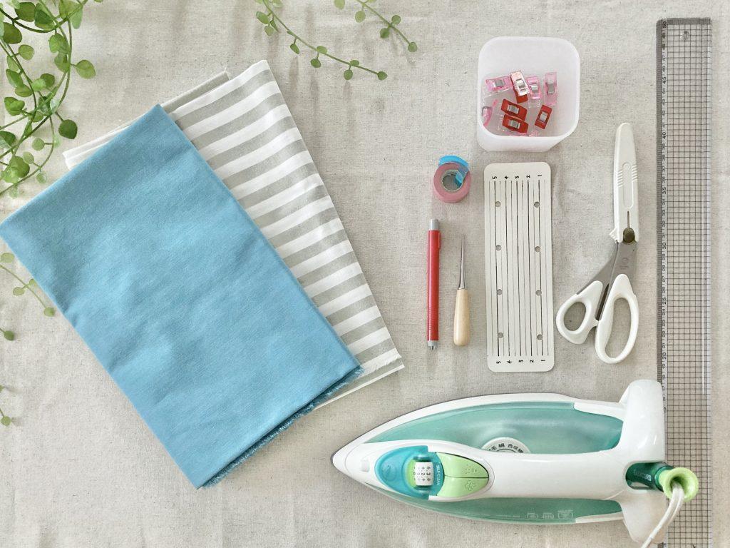 簡単!シンプルな裏地なしランチマットの作り方(額縁縫い)|準備するもの|ハンドメイド初心者のための洋裁メディア縫いナビ|丸石織物