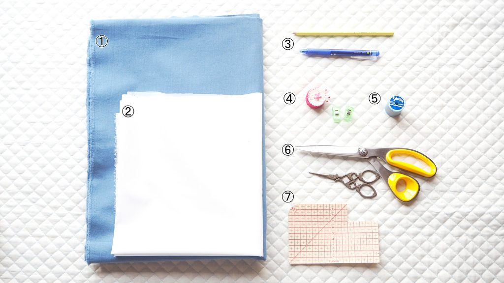 大人用Aラインワンピース 準備物 縫いナビ