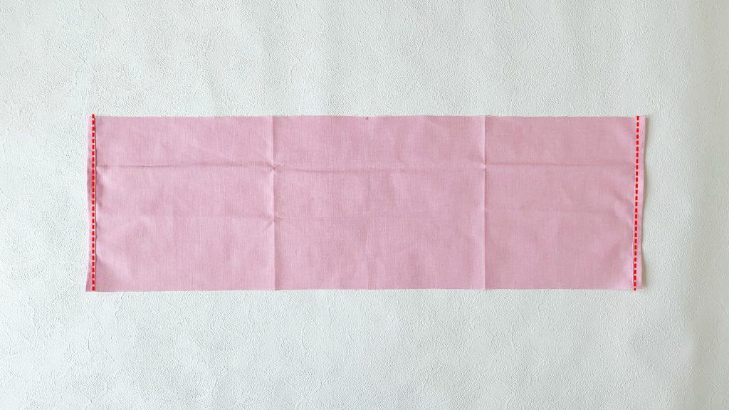 ギャザーエプロンの作り方|スカートの両端を縫う|ハンドメイド 初心者のための洋裁メディア縫いナビ|丸石織物