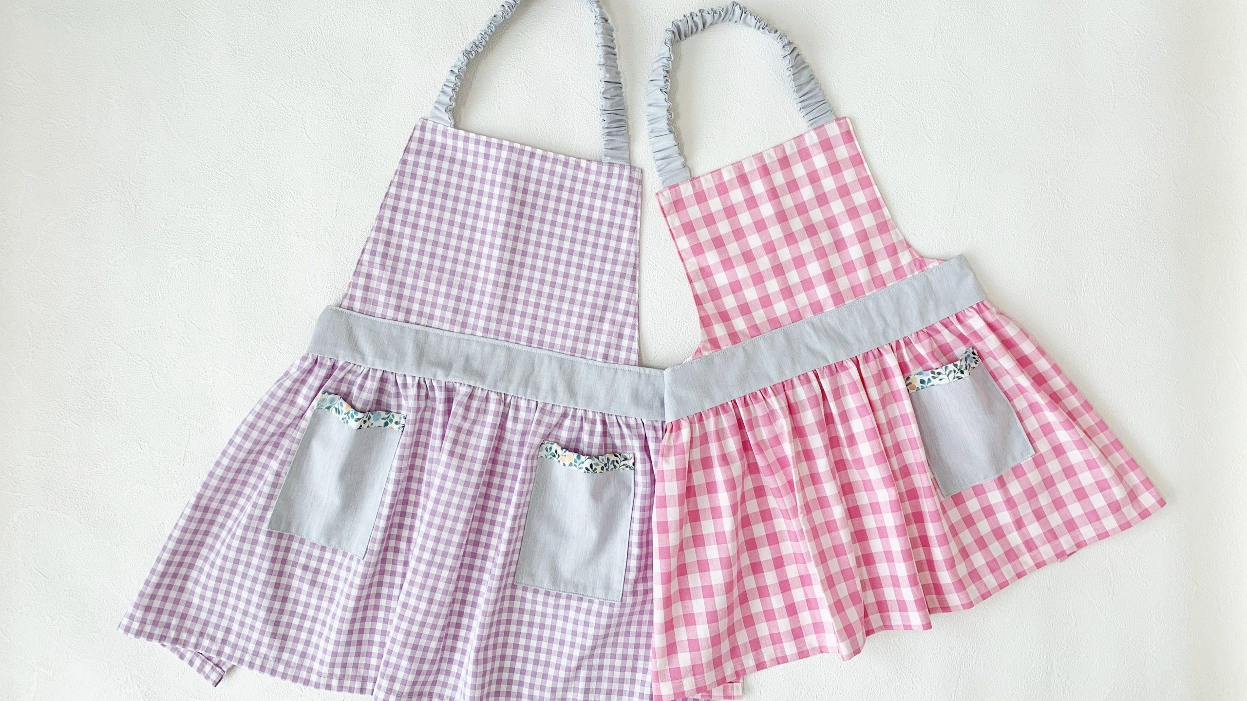 簡単かわいい子ども用ギャザーエプロンの作り方|ハンドメイド 初心者のための洋裁メディア縫いナビ|丸石織物