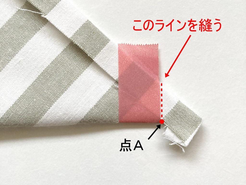 簡単!シンプルな裏地なしランチマットの作り方(額縁縫い)|マスキングテープと平行に縫う|ハンドメイド初心者のための洋裁メディア縫いナビ|丸石織物