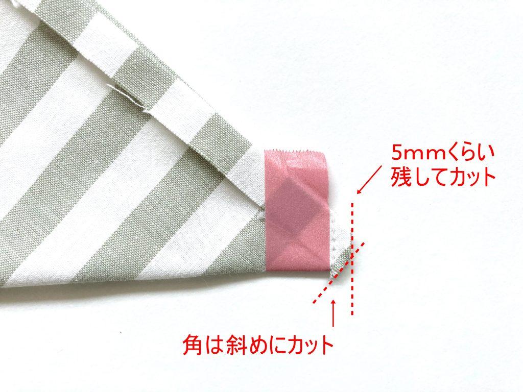 簡単!シンプルな裏地なしランチマットの作り方(額縁縫い)|端をカット|ハンドメイド初心者のための洋裁メディア縫いナビ|丸石織物