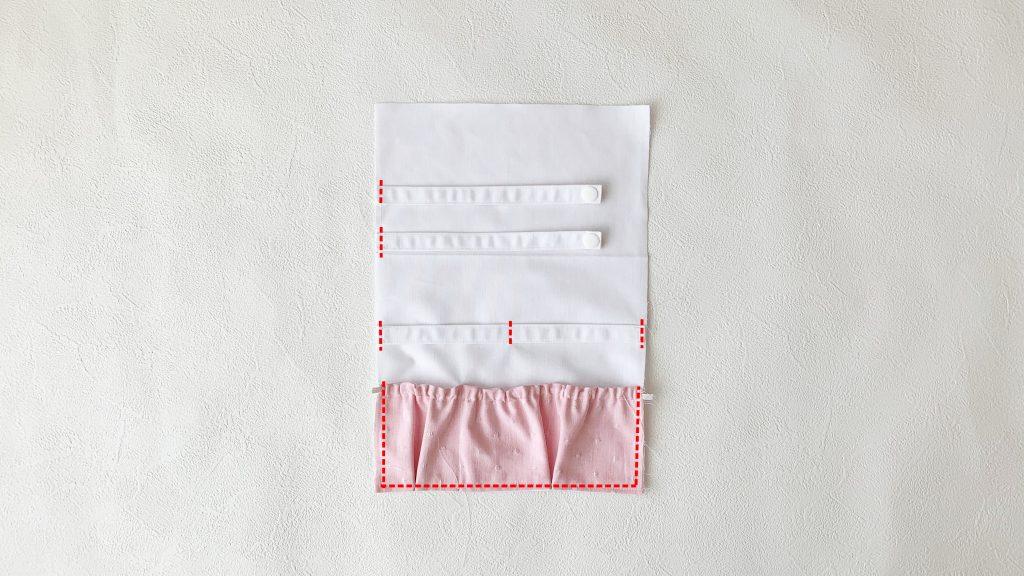 ヘアアクセサリーポーチの作り方|ゴムポケットにした場合の裏地本体|ハンドメイド 初心者のための洋裁メディア縫いナビ|丸石織物
