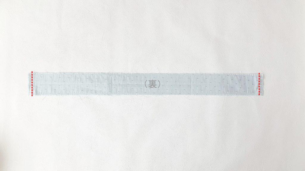 ヘアアクセサリーポーチの作り方|フリル布を中表にして縫う|ハンドメイド 初心者のための洋裁メディア縫いナビ|丸石織物