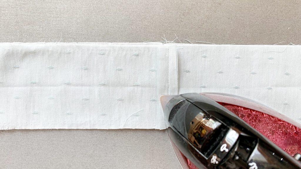 ヘアアクセサリーポーチの作り方|フリㇽの縫い代を割る|ハンドメイド 初心者のための洋裁メディア縫いナビ|丸石織物