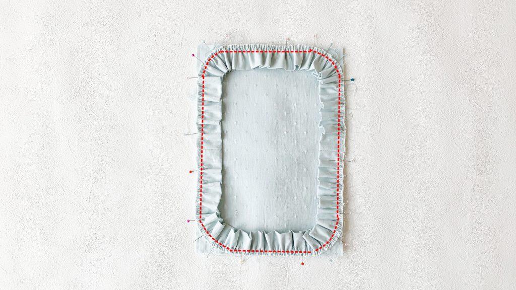 ヘアアクセサリーポーチの作り方|フリルを縫い付ける|ハンドメイド 初心者のための洋裁メディア縫いナビ|丸石織物