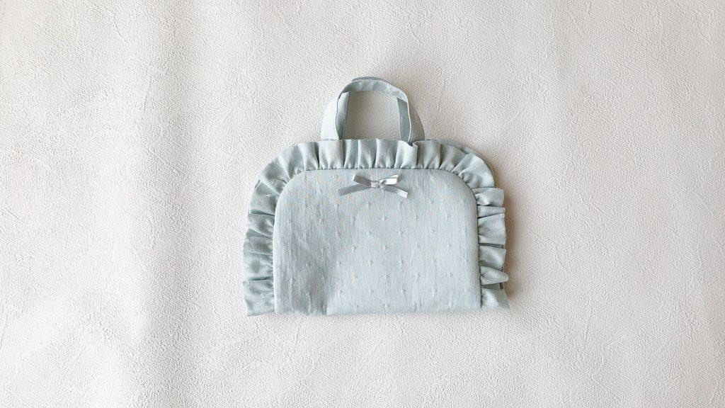 ヘアアクセサリーポーチの作り方|フリル付き完成|ハンドメイド 初心者のための洋裁メディア縫いナビ|丸石織物