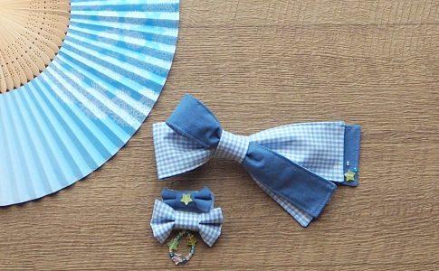 ハギレ活用!簡単、かわいいい、親子の浴衣髪飾りの作り方-仕上り|ハンドメイド初心者のための洋裁メディア縫いナビ❘丸石織物