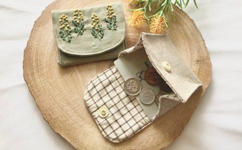 はぎれ消費に!簡単に作れるコインケースの作り方-コインケースの完成写真|ハンドメイド初心者向け洋裁メディア縫いナビ|丸石織物