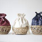 簡単巾着かごバックの作り方|完成写真|ハンドメイド初心者のための洋裁メディア縫いナビ|丸石織物
