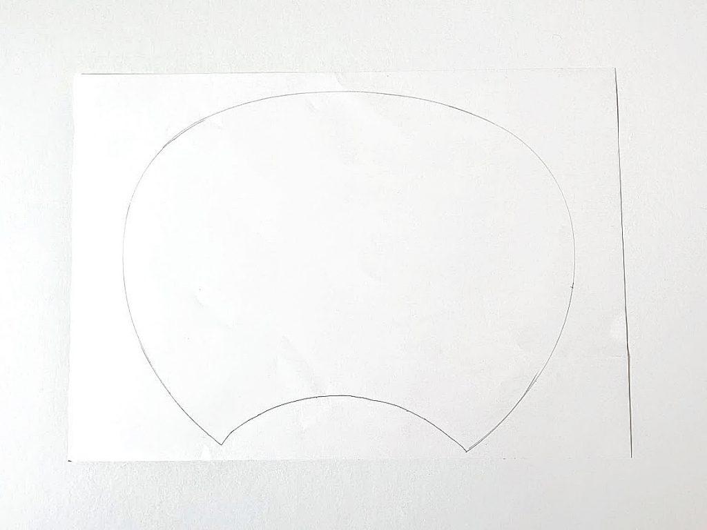 夏休みの工作にもぴったり!はぎれと100均材料で簡単かわいいうちわの作り方|下の線をつなげたところ|ハンドメイド初心者のための洋裁メディア縫いナビ|丸石織物
