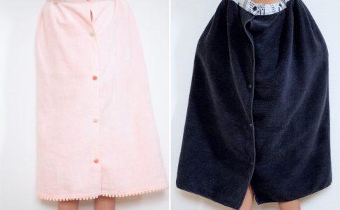 簡単!乾きやすい!プールのお着替えに便利なラップタオルの作り方|完成写真|ハンドメイド初心者のための洋裁メディア縫いナビ|丸石織物