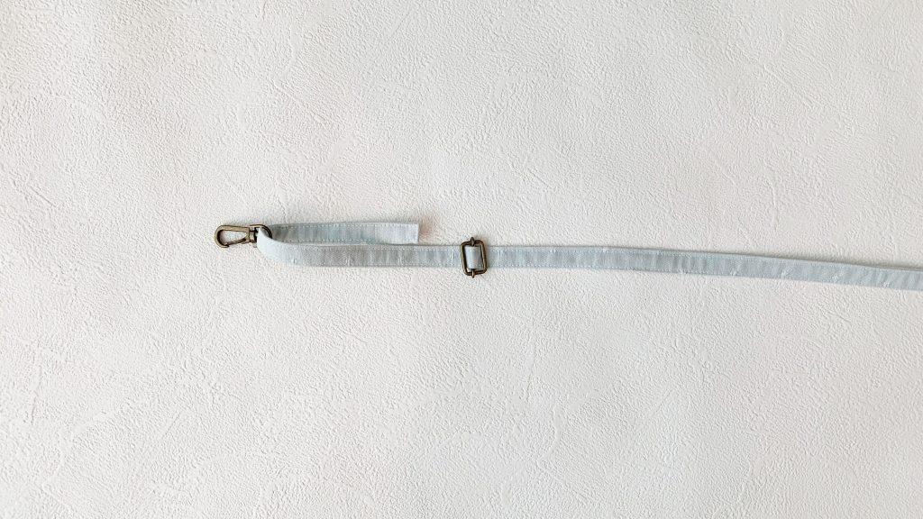 スマホポーチの作り方|移動カンの先にナスカンをつける|ハンドメイド 初心者のための洋裁メディア縫いナビ|丸石織物