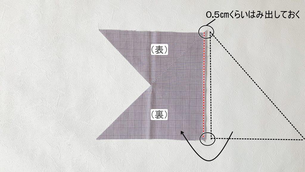 一度に長くできるバイアステープの作り方|ハンドメイド 初心者のための洋裁メディア縫いナビ|丸石織物|中表に重ねて縫う