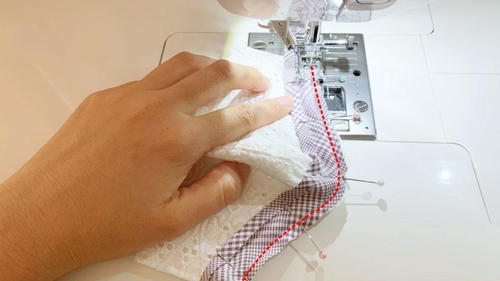 縁取りリボンマスクの作り方|ハンドメイド 初心者のための洋裁メディア縫いナビ|丸石織物|バイアステープを縫う