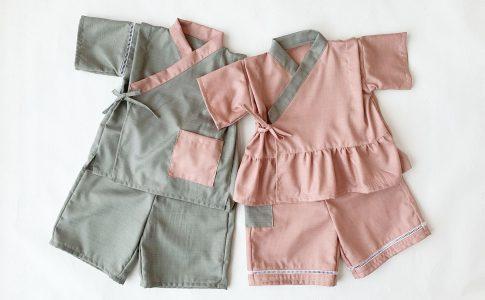 ルームウェアにも!簡単シンプルな子供用甚平の作り方|ハンドメイド 初心者のための洋裁メディア縫いナビ|丸石織物