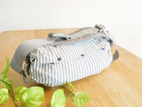 まっすぐ縫うだけ!簡単抱っこ紐収納カバーの作り方完成写真|ハンドメイド初心者のための洋裁メディア縫いナビ|丸石織物