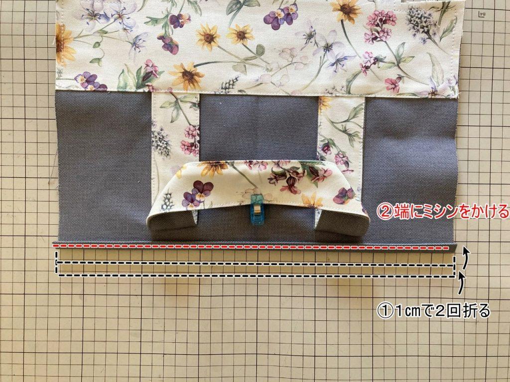 柔らか帆布で縫いやすいキャンバストートの作り方|トートバッグ|初心者のための洋裁メディア縫いナビ|丸石織物|入れ口を縫う|リバティ帆布|リバティバッグ