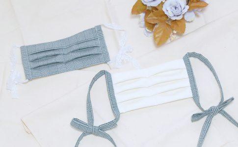 綿ポリで作る!プリーツ型のかわいいリボンマスクの作り方-完成写真|ハンドメイド 初心者のための洋裁メディア縫いナビ|丸石織物