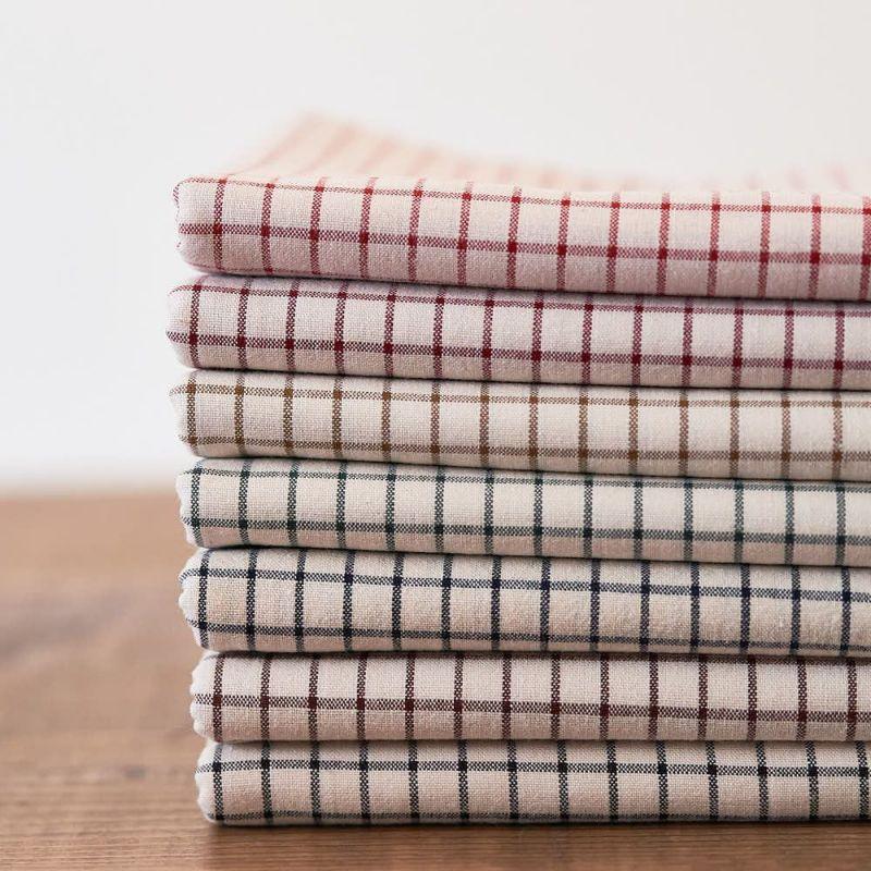 綿ポリ 交織 ダンガリー ウィンドウチェック|生地のマルイシ|丸石織物