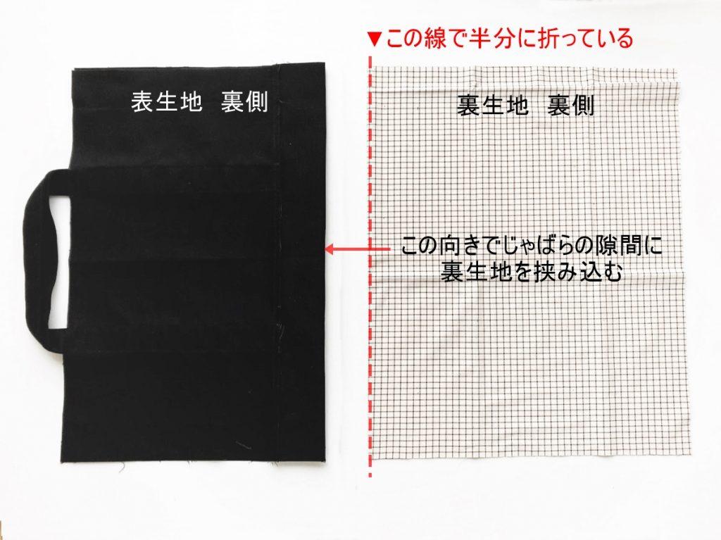 1mの8号帆布で作る!簡単シンプルな外マチ大判トートバッグの作り方|じゃばらの間に裏生地を挟み込む|ハンドメイド初心者のための洋裁メディア縫いナビ|丸石織物