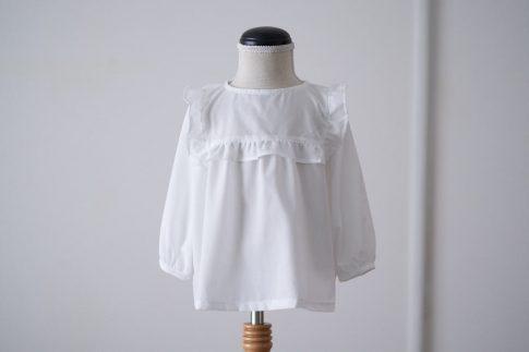 ハンドメイドベビー服enannaさんのヨークフリルブラウス